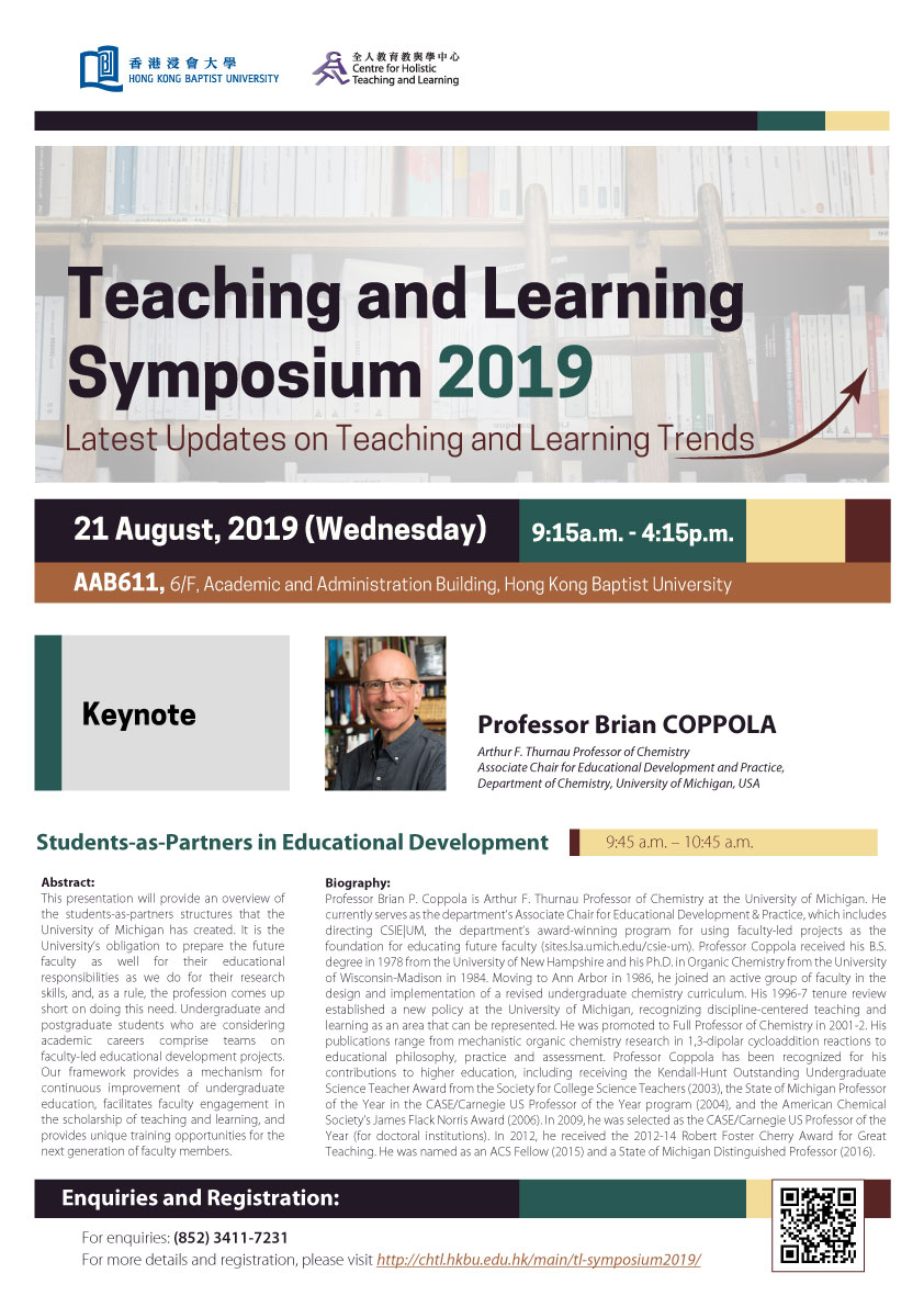 Teaching and Learning symposium 2019 poster